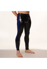 RoB Rubber legging met doorlopende rits en blauwe strepen