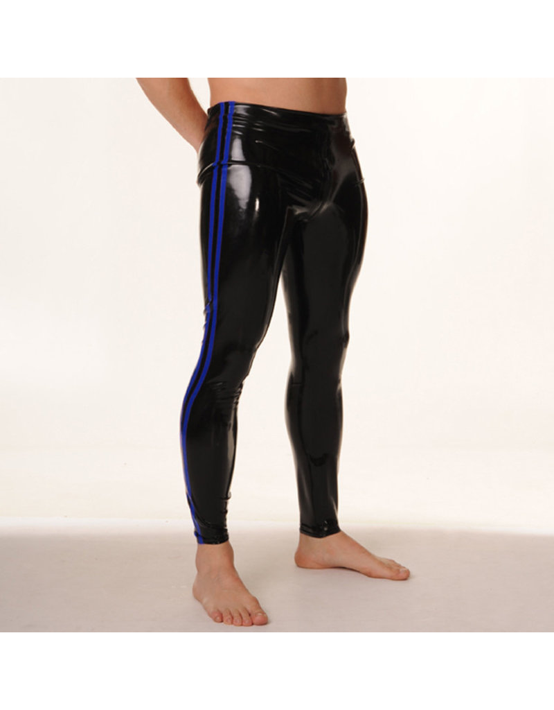 RoB Rubber Legging with full zip and blue stripes