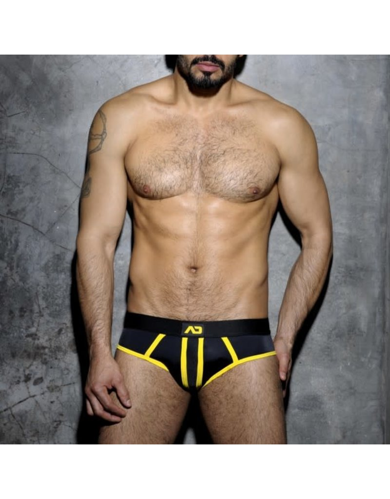Addicted Stripe Fetish Brief Black/Yellow