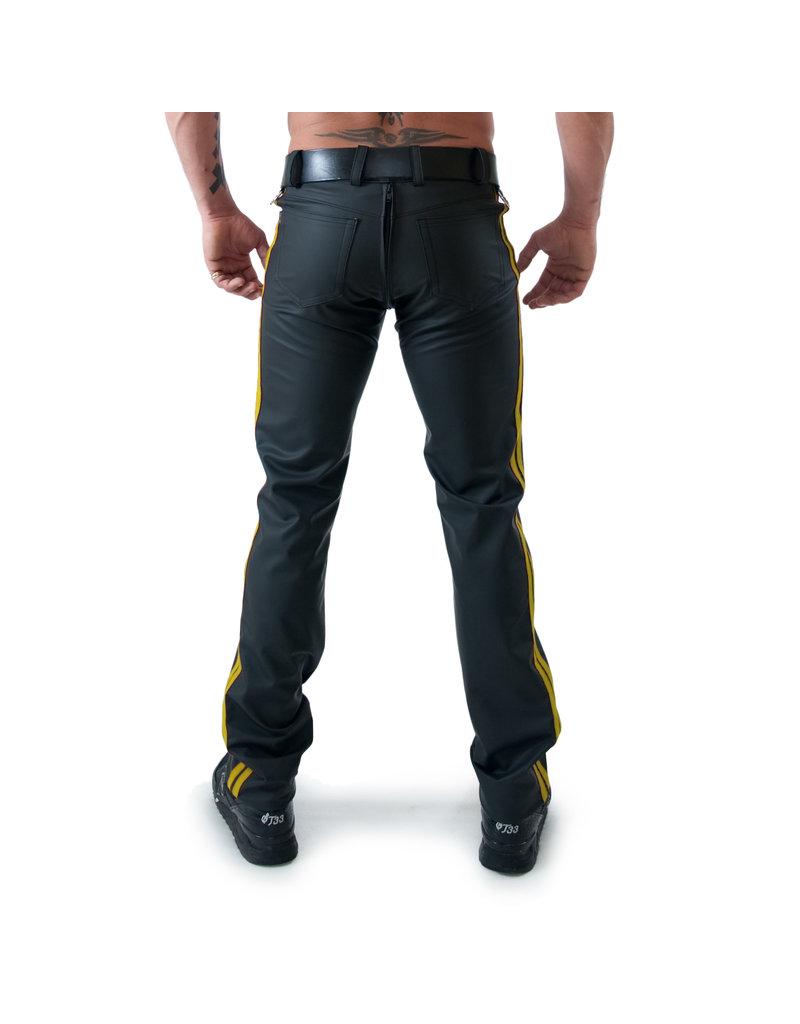 Full Zip Jeans mit 2 gelben Streifen