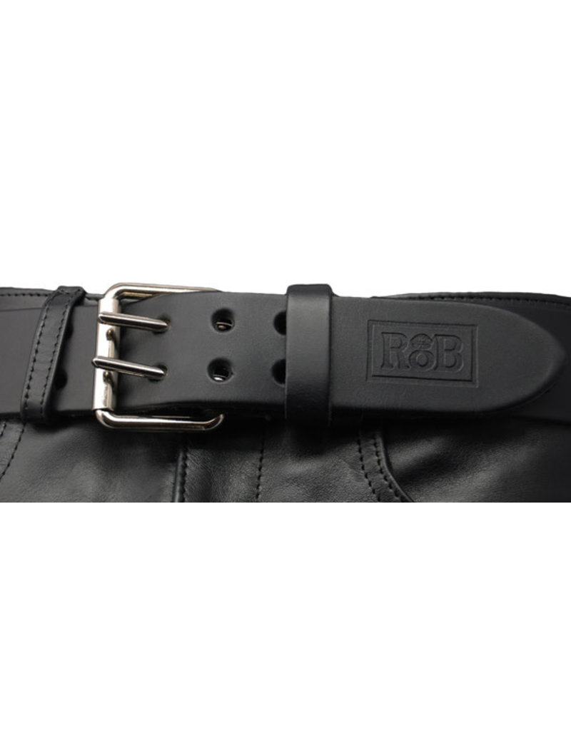 RoB Leather belt double buckle