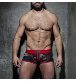 Addicted Camo stripe fetish boxer red