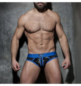 Addicted Camo stripe fetish brief blue
