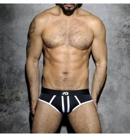 Addicted Stripe Fetish Brief Black/White