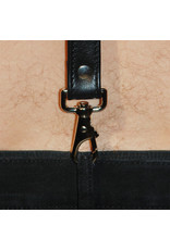 RoB Leren bretels 3,1 cm breed met klip