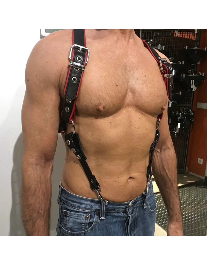 RoB Phalanx harness black with red piping