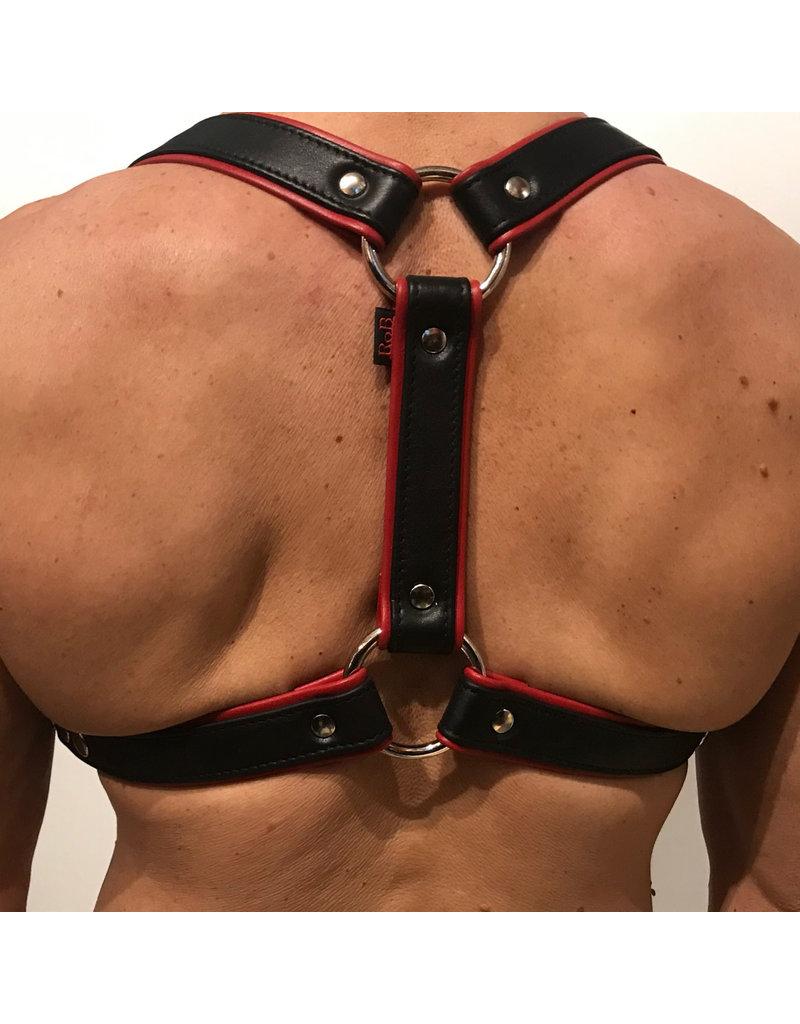 RoB Phalanx Harness schwarz mit rot
