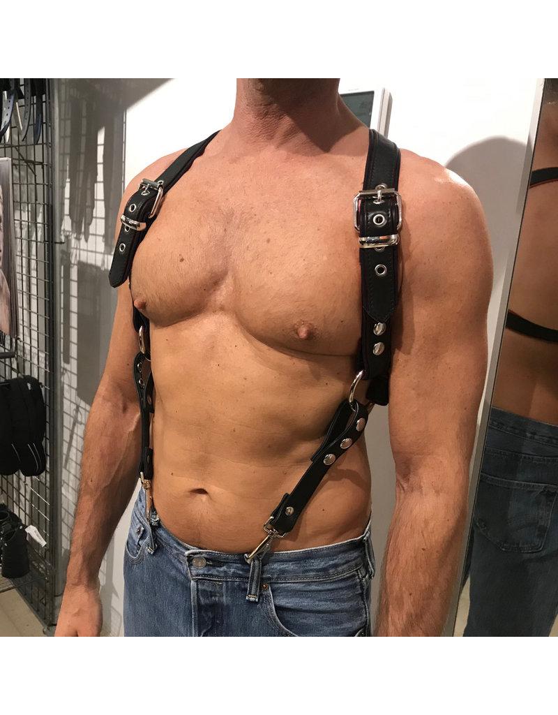 RoB Phalanx harness black with black piping