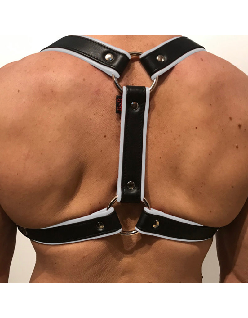 RoB Phalanx harness black with white piping