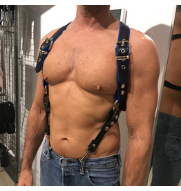 RoB Phalanx harness black with blue piping
