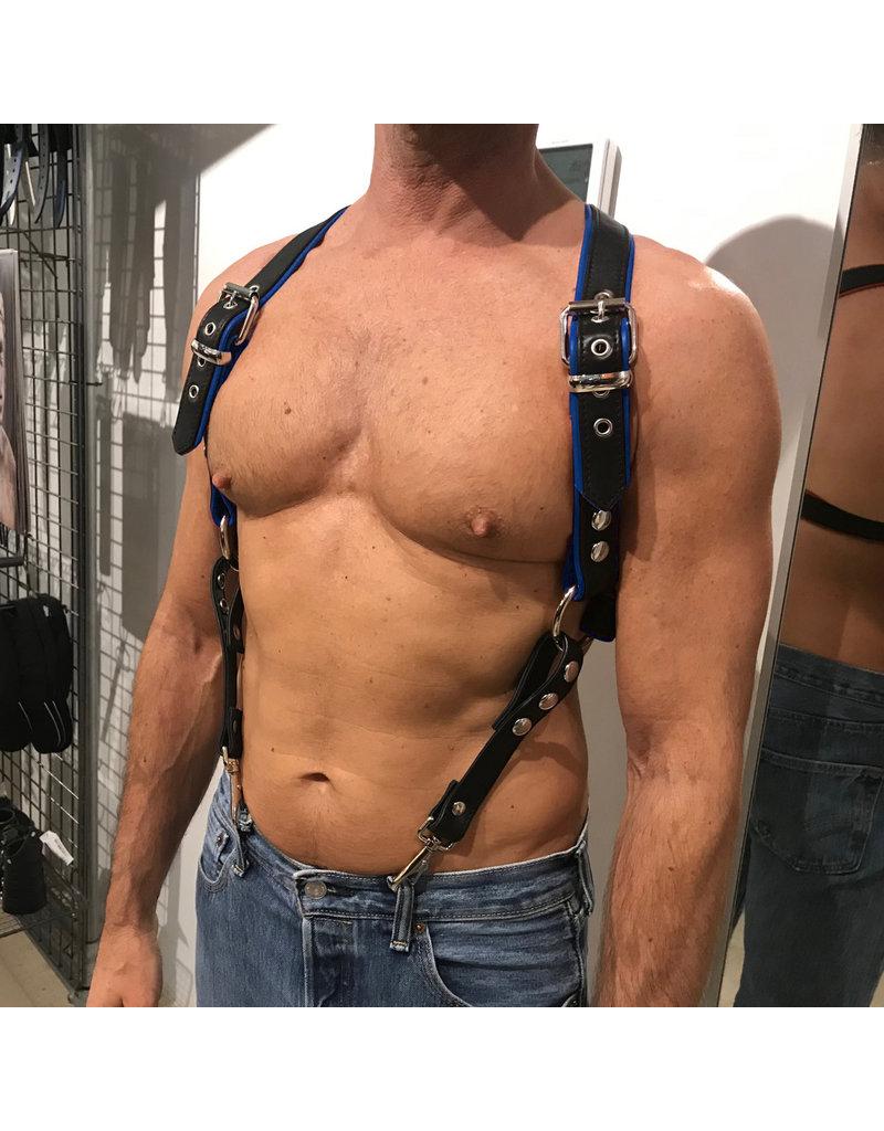 RoB Phalanx Harness schwarz mit blau