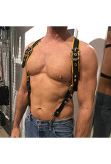 RoB Phalanx harness black with yellow piping