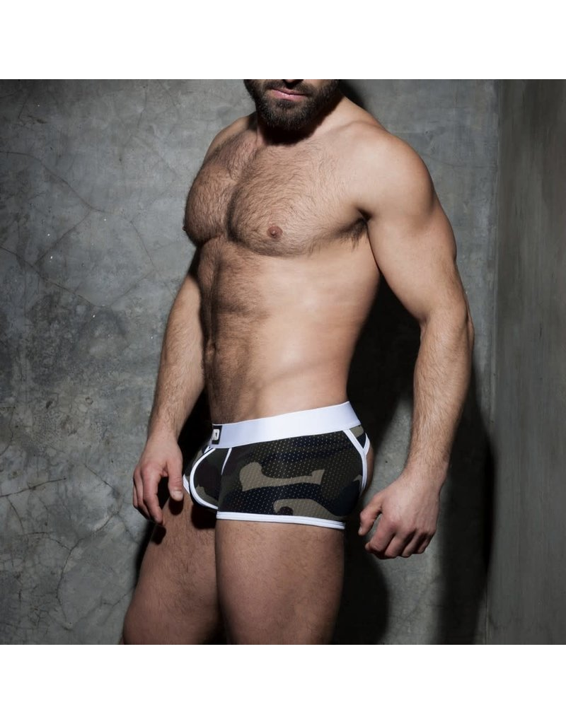 Addicted Camo stripe fetish boxer white