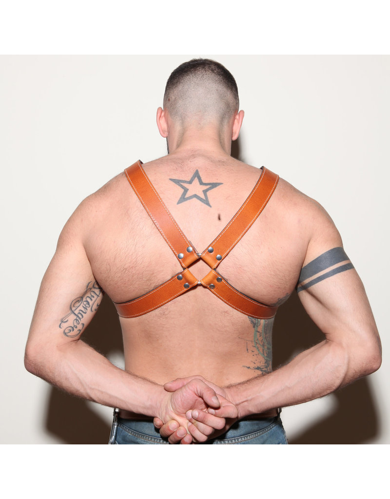 RoB Y-Front Harness Hellbraun