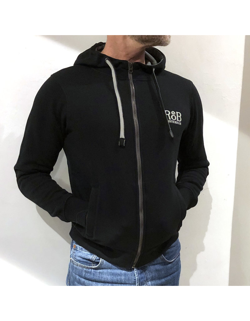 RoB Sweater met rits zwart