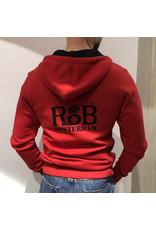 RoB Pullover mit Reißverschluss rot