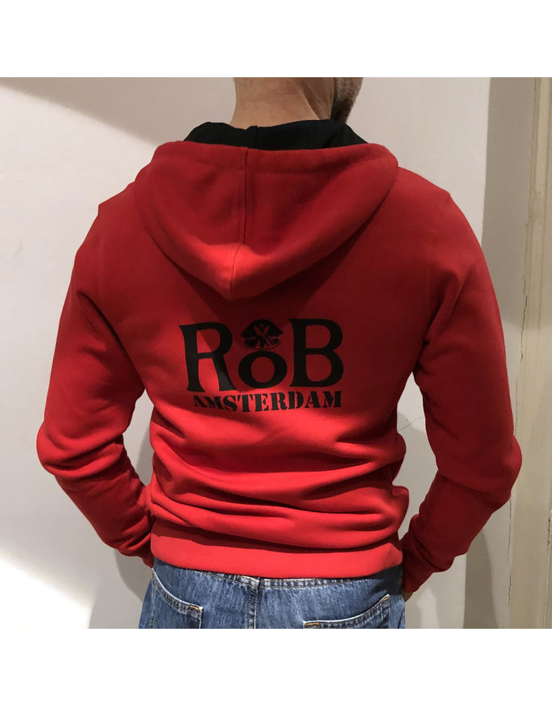 RoB Sweater with zipper red
