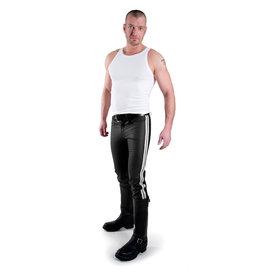 Jeans met 2 witte strepen
