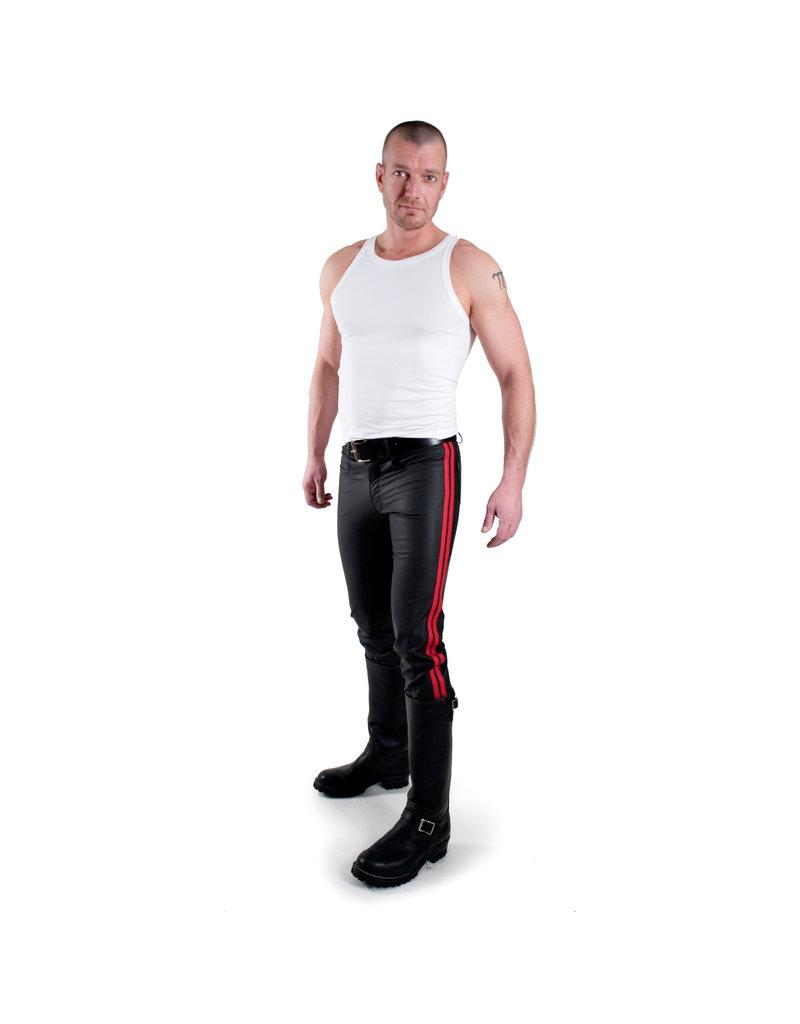 Jeans mit 2 roten Streifen