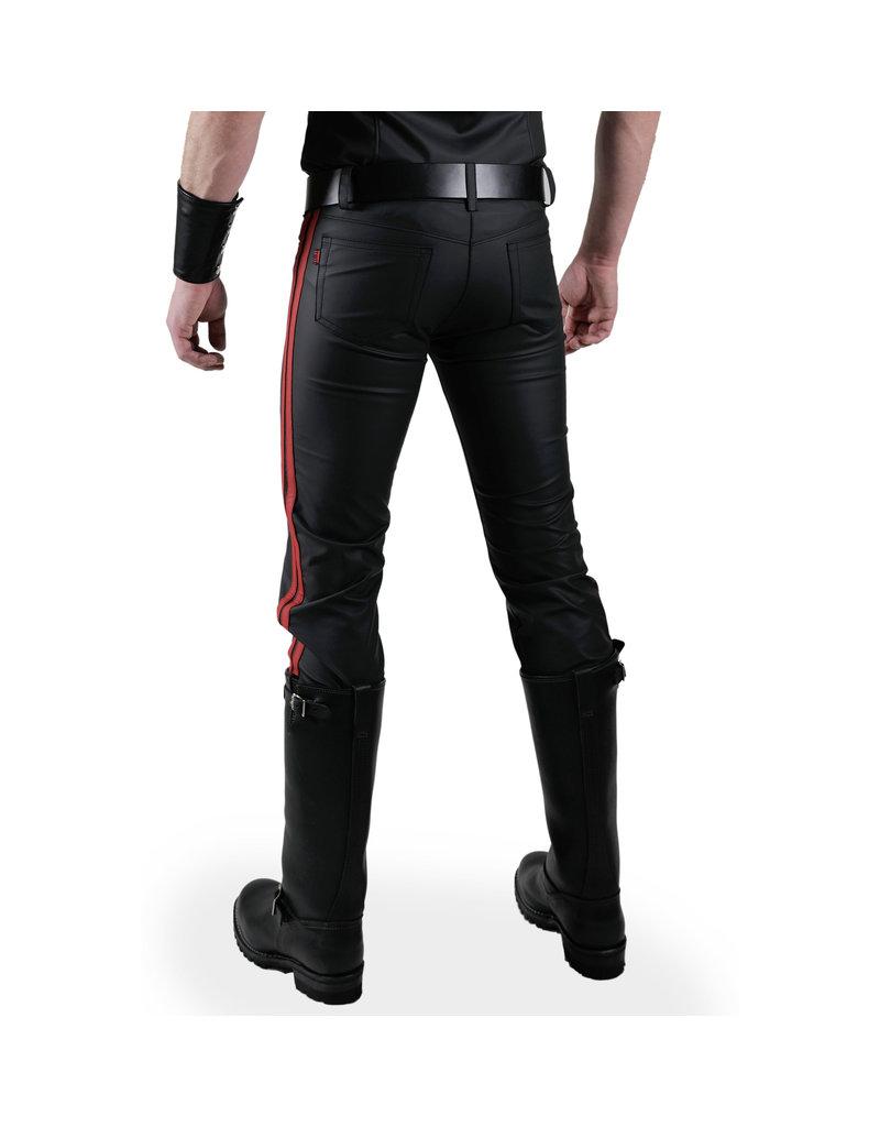 Jeans met 2 rode strepen