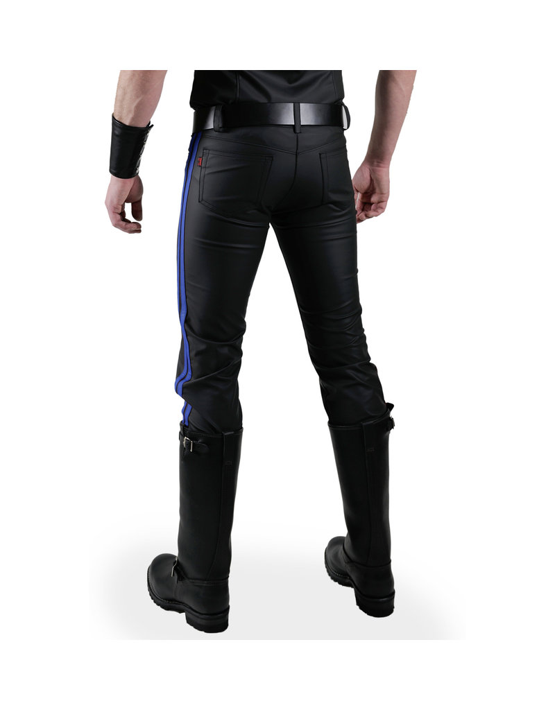 Jeans met 2 blauwe strepen