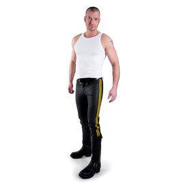 Jeans mit 2 gelben Streifen