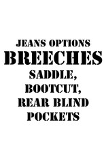 RoB Leather option: Breeches, Saddle, Bootcut, Rear Blind Pockets