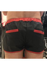 Sport Shorts black with red stripes