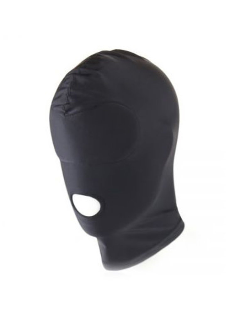 Black BDSM Hood Mouth Only