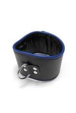 RoB Leather padded posture collar black/blue