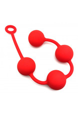 Red Anal balls silicone 4 x 50 mm red