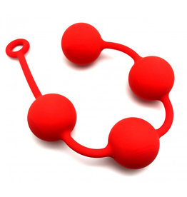 Red Anal balls silicone 4 x 60 mm red