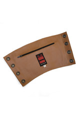 RoB Leather gauntlet wrist wallet brown