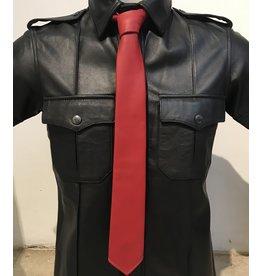 RoB Leren stropdas rood