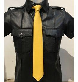 RoB Leren stropdas geel