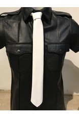 RoB Leather Tie white