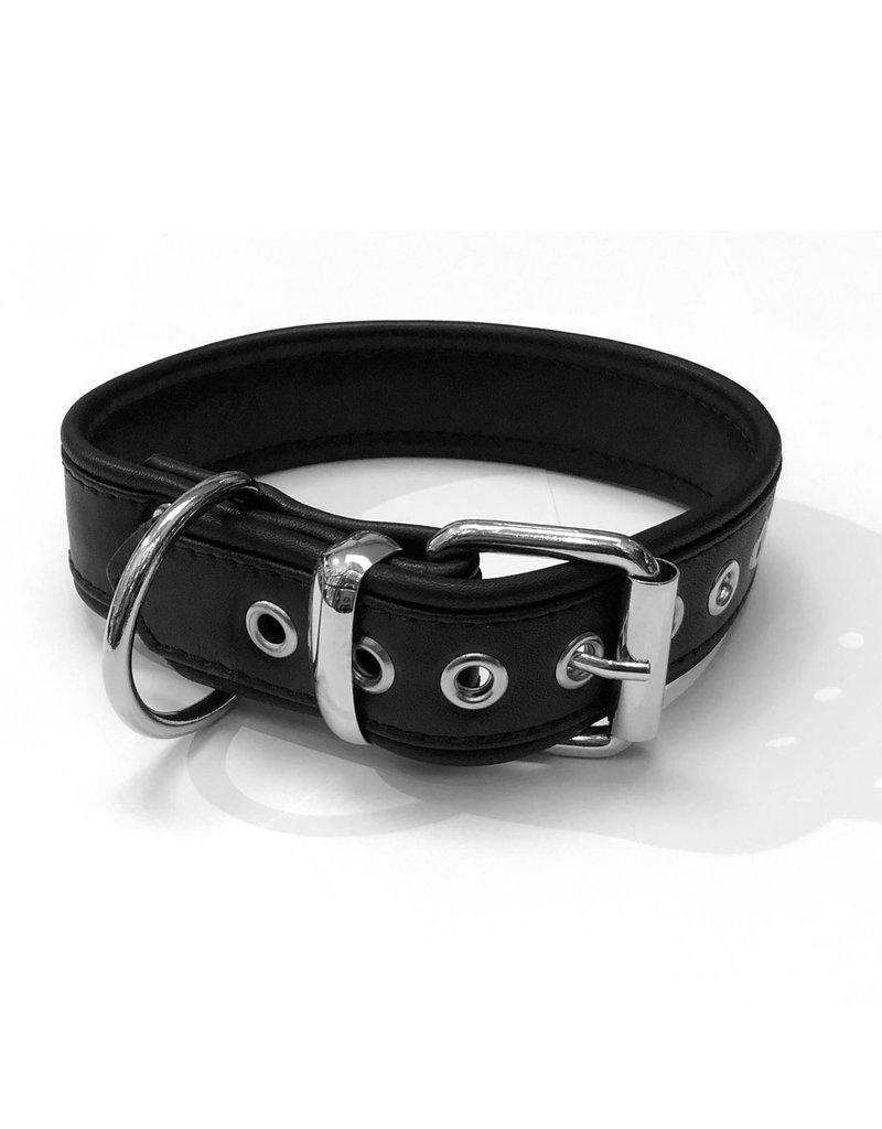 RoB Leren slavenhalsband met 1 D-ring medium
