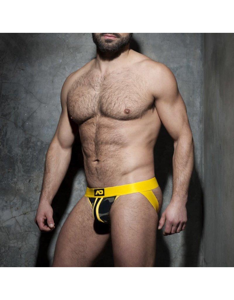 Addicted Camo Jock Yellow Stripe