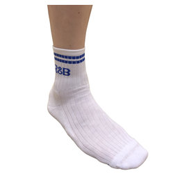 RoB Sports socks white with blue stripes