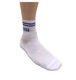 RoB Sportsocken weiß mit blauen Streifen
