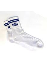 RoB Sport sokken wit met blauwe strepen