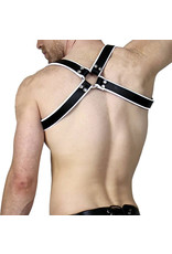 RoB Shoulder Harness White Piping, buckle