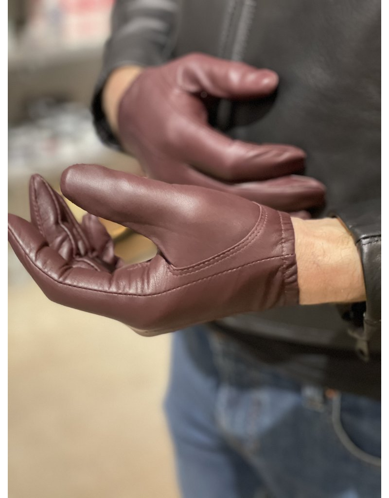 Tough Gloves Leder Polizeihandschuhe braun