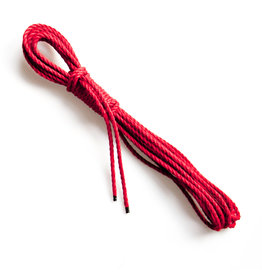 Mister Kink Bondage touw, jute, Ø 5,5 mm, rood, 1 meter