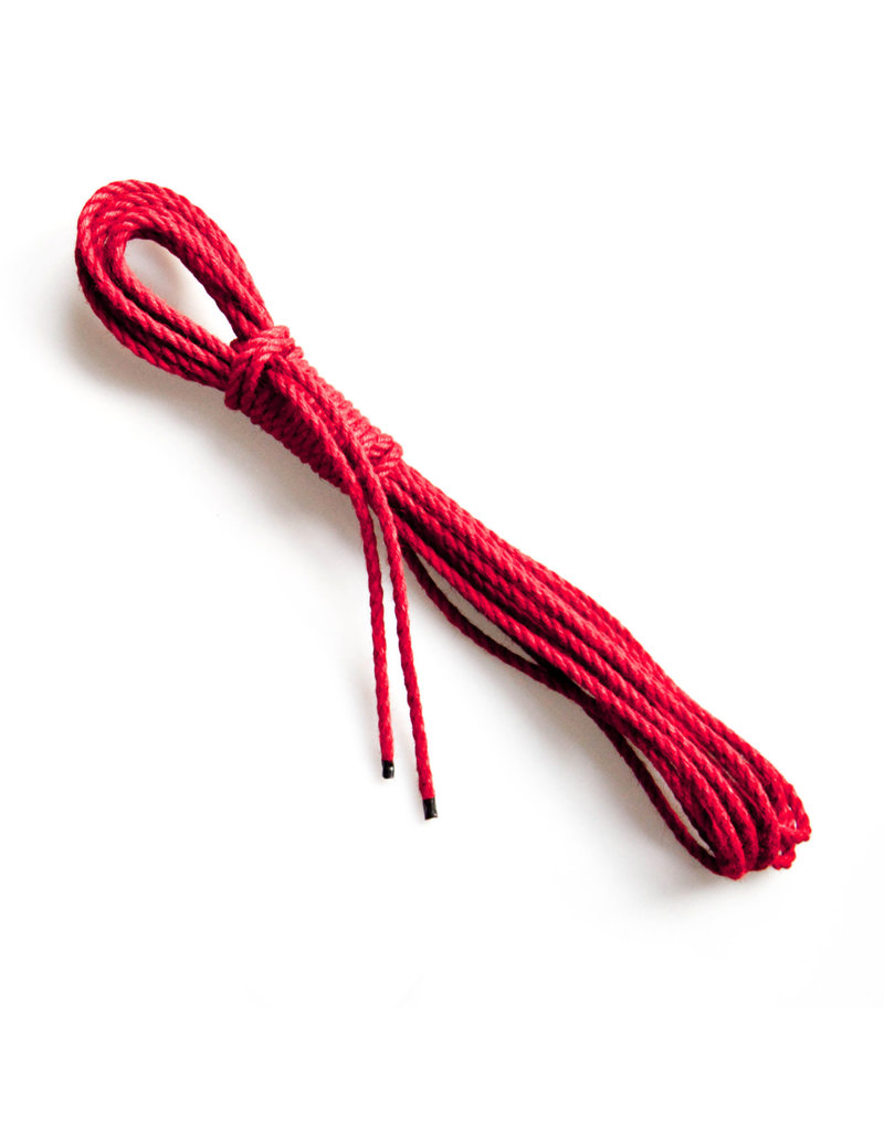 Mister Kink Bondage rope, jute, Ø 5.5 mm, red, 1 meter