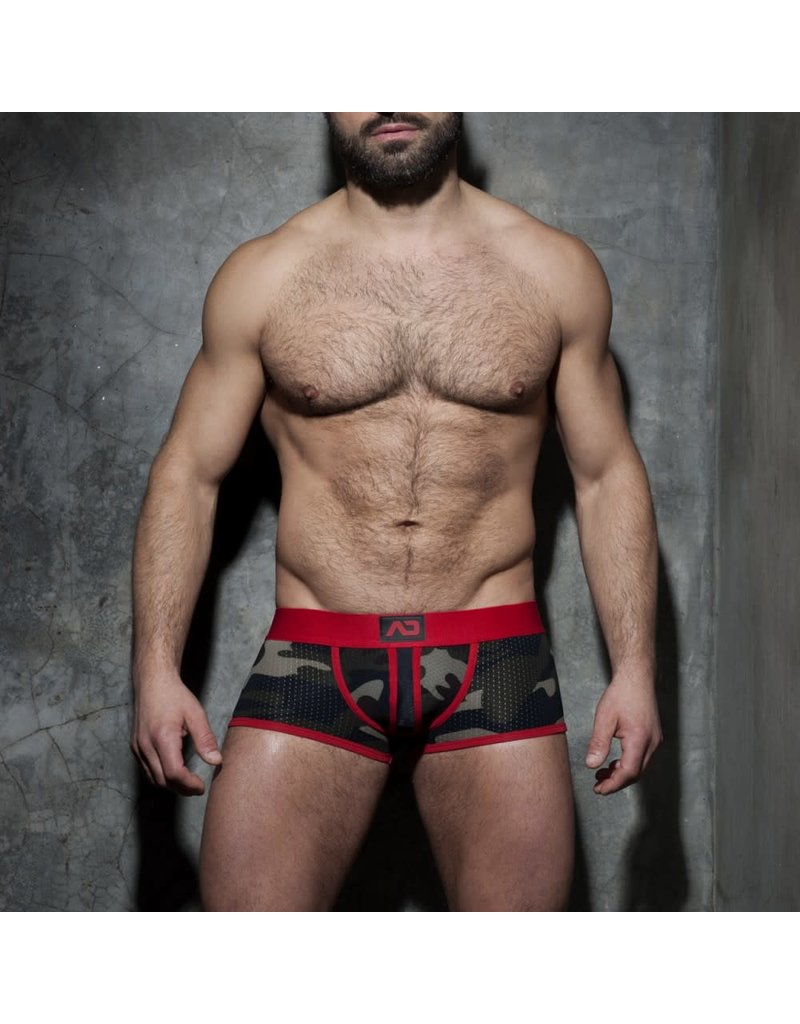 Addicted Camo stripe fetish boxer red