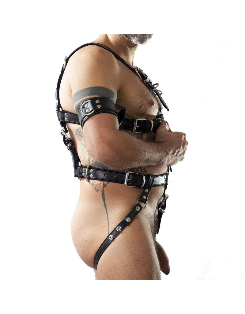 RoB Slaaf bondage harnas zwart/zwart