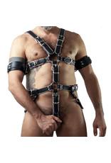 RoB Slave bondage harness black on grey