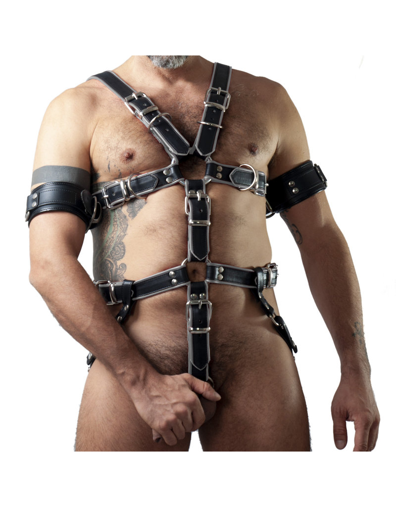 RoB Sklave Bondage Harness schwarz mit grau