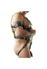 RoB Slave bondage harness black on yellow